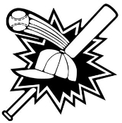 Baseball Bat and Ball Decal Sticker