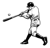 Baseball Hitter v2 Decal Sticker