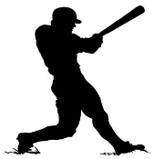 Baseball Hitter Silhouette v1 Decal Sticker