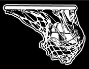 Basketball in the Net Decal Sticker
