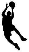 BBall Layup Silhouette v3 Decal Sticker