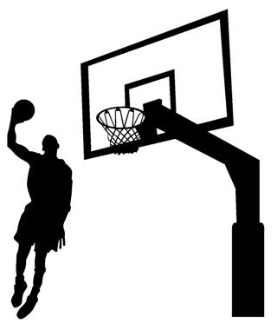 Player Dunking on Hoop v1 Decal Sticker