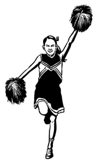 Cheerleader 3 Decal Sticker