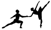 2 Dancers Silhouette v3 Decal Sticker