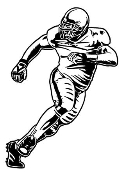 Defensive Football Player Decal Sticker