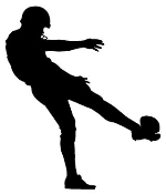 Football Kicker Silhouette Decal Sticker