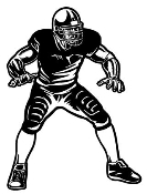Football Linebacker v1 Decal Sticker