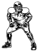 Football Linebacker v3 Decal Sticker