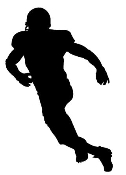 Football Linebacker Silhouette Decal Sticker