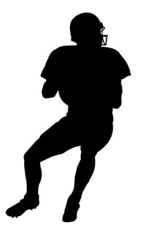Quarterback Silhouette v2 Decal Sticker