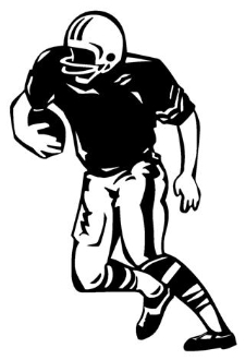 Football Running Back 6 Decal Sticker
