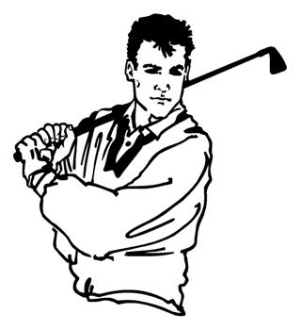 Golfer v2 Decal Sticker