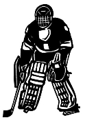 Hockey Goalie Decal Sticker