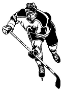 Hockey Player v3 Decal Sticker