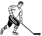 Hockey Player v4 Decal Sticker