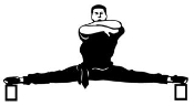 Karate Splits Decal Sticker