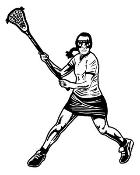Female Lacrosse 3 Decal Sticker