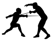 Fencing Silhouette Decal Sticker