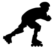 Inline Skater Silhouette v1 Decal Sticker