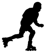 Inline Skater Silhouette v2 Decal Sticker