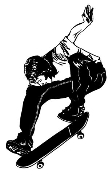 Skateboarder v6 Decal Sticker