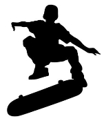 Skateboarder Silhouette v2 Decal Sticker