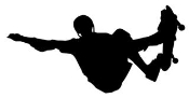 Skateboarder Silhouette v3 Decal Sticker