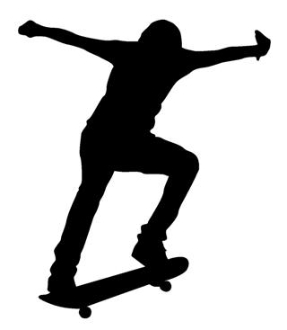 Skateboarder Silhouette v4 Decal Sticker