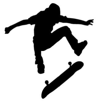 Skateboarder Silhouette v5 Decal Sticker