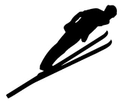 Ski Jump Silhouette Decal Sticker
