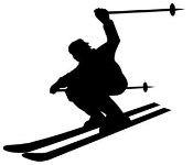Skiing Silhouette Decal Sticker