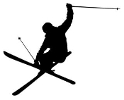 Skiing Silhouette v2 Decal Sticker
