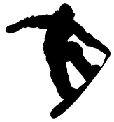 Snowboard Silhouette v1 Decal Sticker