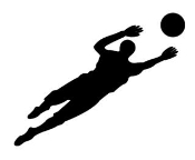 Soccer Goalie Silhouette Decal Sticker