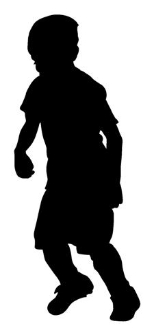 Soccer Kid Silhouette 1 Decal Sticker