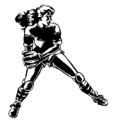 Softball Player 1 Decal Sticker