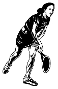 Tennis Girl 1 Decal Sticker