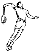 Tennis Player Decal Sticker