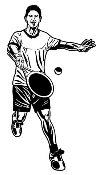Tennis Player 2 Decal Sticker