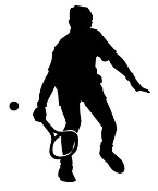 Tennis Player Silhouette 1 Decal Sticker