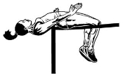 High Jump Female Decal Sticker