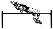 High Jump Male Decal Sticker