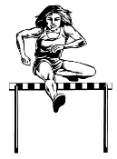 Hurdler Female Decal Sticker