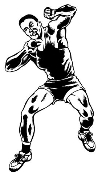 Shot Put Male Decal Sticker