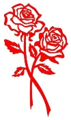 2 Roses Decal Sticker
