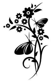 Butterflies on Flowers Decal Sticker