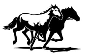 2 Horses Running Decal Sticker