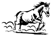 Running Horse v1 Decal Sticker