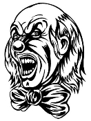 Evil Clown v1 Decal Sticker