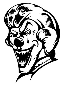 Evil Clown v5 Decal Sticker